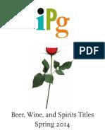 IPG Spring 2014 Beer, Wine, and Spirits Titles