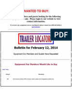 Wanted to Buy - February 12, 2014