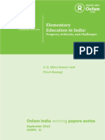III. Elementary Education in India-Progress, Setbacks, And Challenges