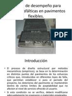 Control de desempeño para mezclas asfálticas en pavimentos