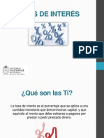 TASAS DE INTERÉS (1) (2)