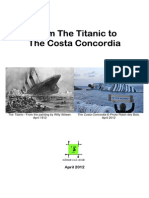 From Titanic to Costa Concordia