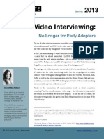 0113 Video Interviewing No Longer Early Adopters Whitepaper