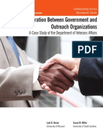 Collaboration Between Government and Outreach Organizations Summary