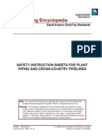 Safety Instruction Sheets for Plant Piping and Cross-Country Pipelines