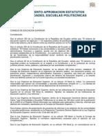 Reglamento Para La Aprobacin de Los Estatutos de Universidades y Escuelas Politcnicas y de Sus Reformas