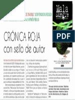 Crónica roja con sello de autor