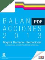 Balance de Acciones de Internacionalización