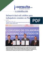 11-02-2014 e-consulta.com - Infonavit dará mil créditos para trabajadores estatales en Puebla.pdf