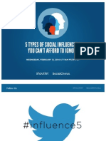 5 Types of Social Influencers