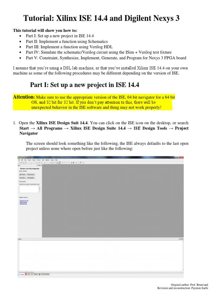 Ise 10. 1 in-depth tutorial xilinx.