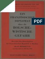 Auswärtiges Amt - Ein französischer Diplomat über die bolschewistische Gefahr (1943)