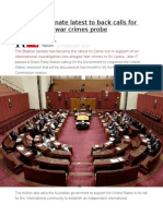 Australian Senate Latest to Back Calls for International War Crimes Probe