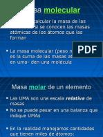 quimica- masa molecular, carga nuclear, configuracion electrones