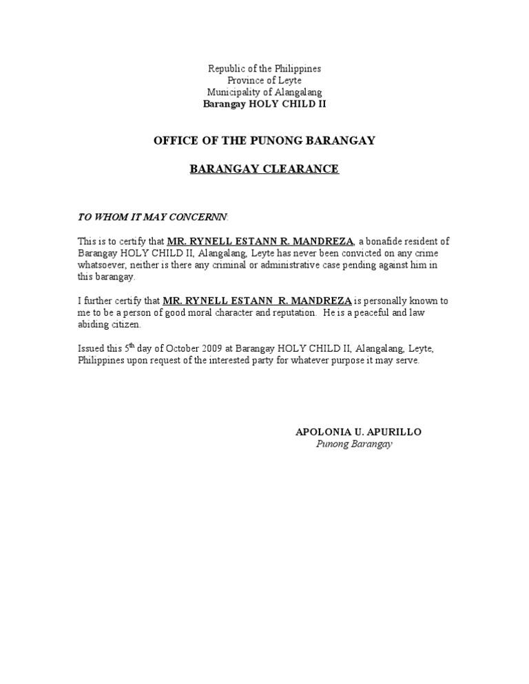 Sample certificate of good moral character philippines gallery sample form of certificate of good moral character choice image yadclub Images