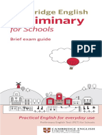 139169 Cambridge English Preliminary for Schools Dl Leaflet