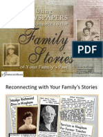 Using Newspapers to Reconnect to Your Family Stories