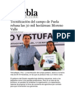 17-05-2013 Puebla on Line - Tecnificación del campo de Puela rebasa las 30 mil hectáreas, Moreno Valle.pdf