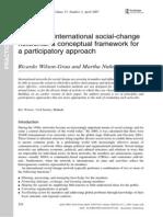 Evaluating International Social Change Networks Ricardo Wilson Grau and Martha Nu1