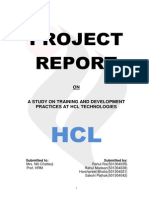 Report Hcl Training