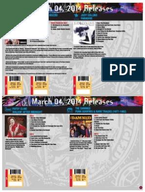 Cleopatra Records Catalog 2014 Albums Rock Music