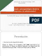 Clase 2, Psicopatología, Apego y Desarrollo, Clínica Infanto Juvenil, UBO 2011
