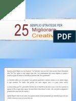 come migliorare la creatività