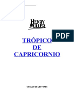 Tropico de Capricornio - Henry Miller