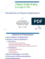 Introduction to Polymer Stabilization