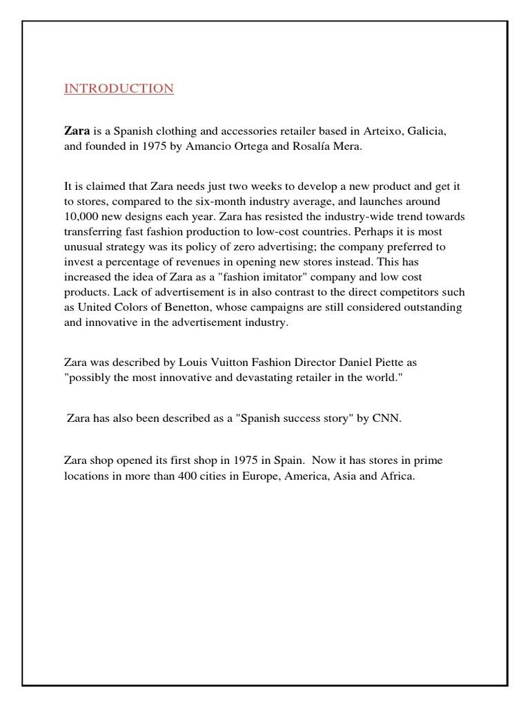 Zara Demand Analysis | Retail | Fashion