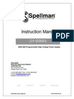 Spellman 225 Series IEEE-488 Programmable High Voltage Power Supply Instruction Manual