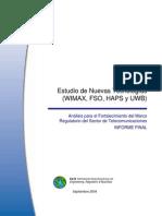 Estudio de Nuevas Tecnologías WIMAX, FSO, HAPS y UWB