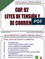 CAP. 02 LEYES DE TENSIÓN Y DE CORRIENTE