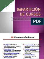 IMPARTICIÓN DE CURSOS