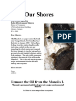 Save Our Shores-Letter