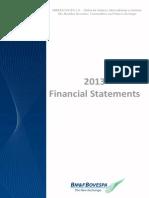 2013 Financial Statement