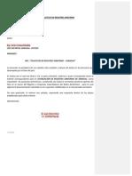 Carta Modelo Solicitud de Registro Sanitario Nacional