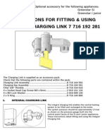 Integral Charging Link Fitting and User Instructions