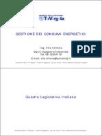 Gestione dell'energia - aspetti legislativi e normativi