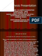 Music Thesis Presentation