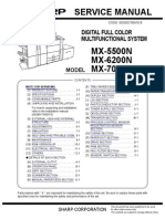 Sharp MX5500,6200,7000 Service manual