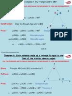 Junior Cert Theorems