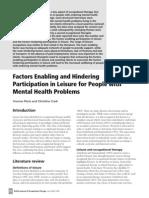 Factors Enabling and Hindering