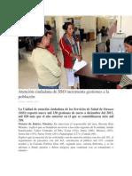 07/02/14 oaxaca.me Atención ciudadana de SSO incrementa gestiones a la población