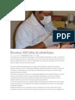 10/02/14 poligrafo Reconoce SSO labor de odontólogos