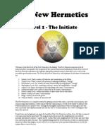 Jason Augustus Newcomb New Hermetics Initiate Workbook