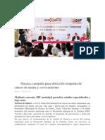 11/01/14 Oaxaca.me campaña para detección temprana de cáncer de mama y cervicouterino