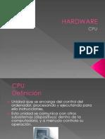CPU Unidad de Procesamiento Unica