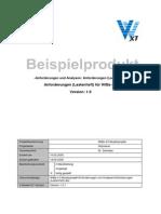 Anforderungen (Lastenheft) WiBe