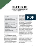 Chapter III Managing Hazard Waste RCRA Subtitle C
